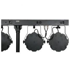 Set fari PAR LED Showtec Lightset MKII completo di borsa e supporto fari - 30272