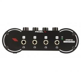 Amplificatore per cuffie con 4 canali Proel HPAMP104