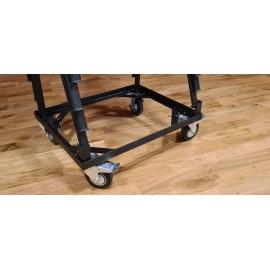 Carrello porta sedie per trasporto sedie con 2 ruote fisse e 2 pivottanti con o senza freno