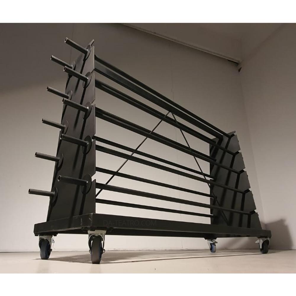 Carrello porta rotoli per tappeti danza fino a 10 rotoli ballet dance floor cart