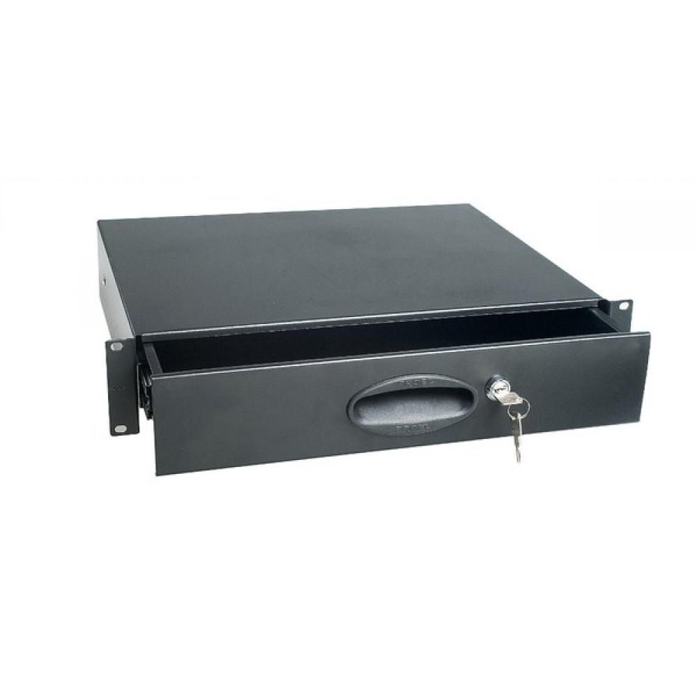 Cassetto Proel 2U per Rack da 19 con chiusura a chiave ADRK2CR