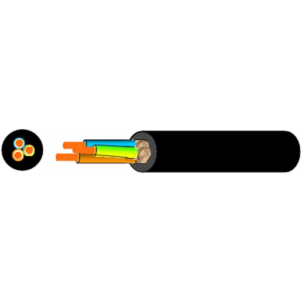CAVO NEOPRENE H07RN-F TRIPOLARE 3x2.5mm BOBINA DA 100M 3G25