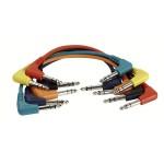 Cavo Patch bilanciato DAP FL42 90cm 6pz vari 6 colori connettore jack 90gradi