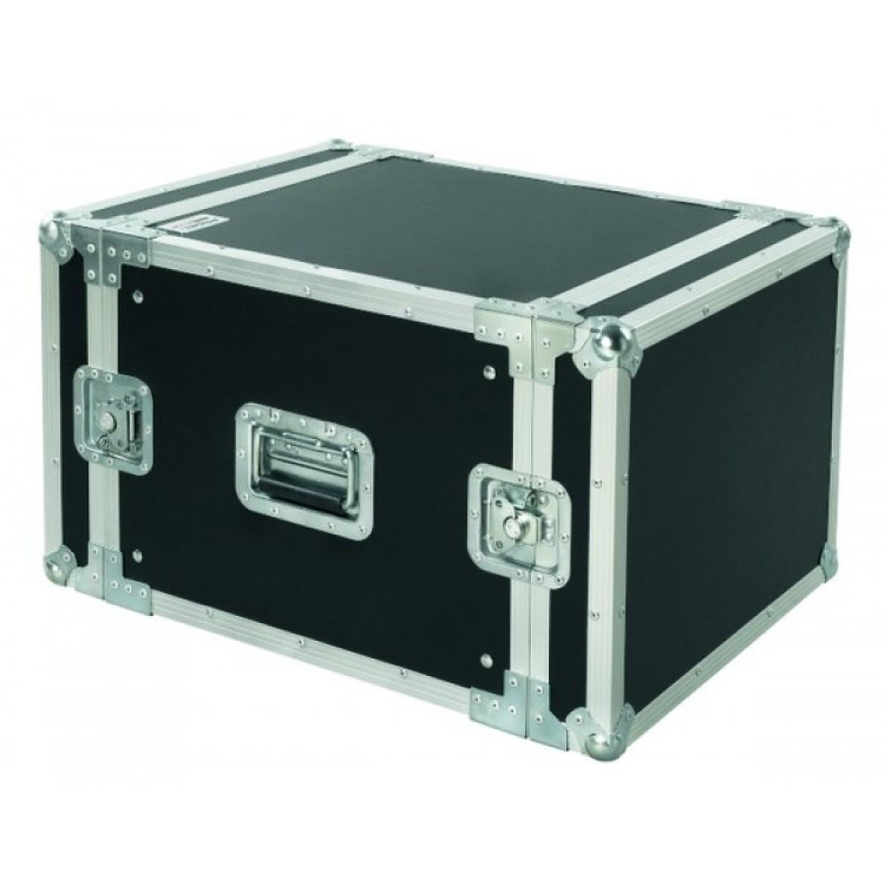 Flightcase Proel  professionale 8U Rack19 profondità 45cm CR208BLKM