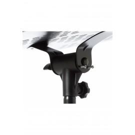 Supporto Bespeco LPS100 per videoproiettore mixer pc doppia base Inclinabile altezza regolabile