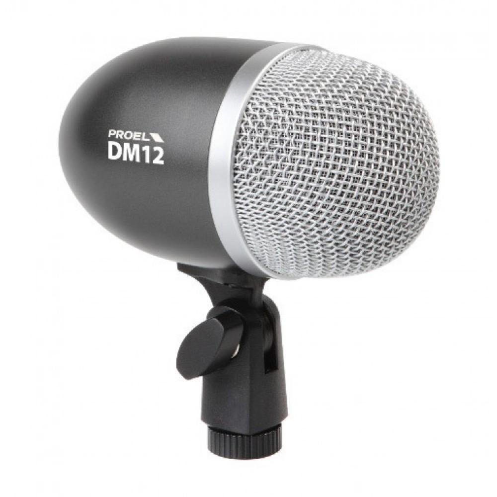 Microfono dinamico professionale per grancassa e strumenti PROEL DM12
