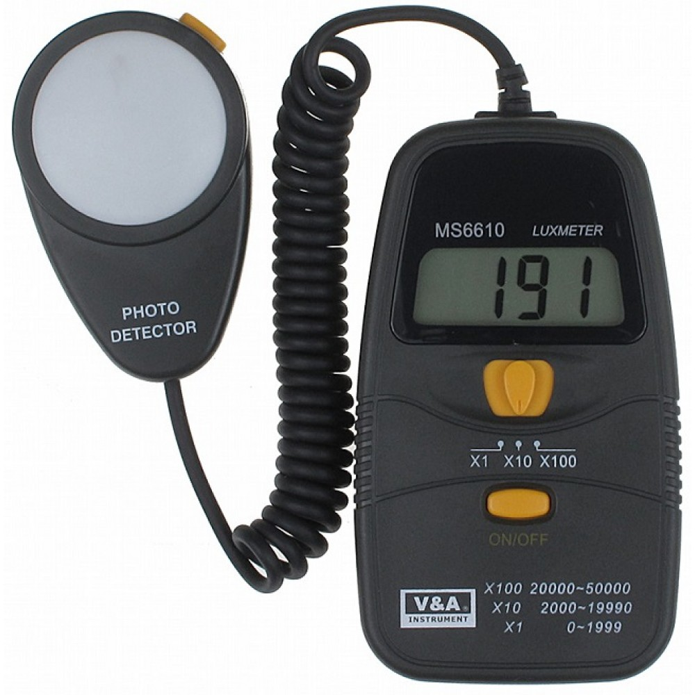 MISURATORE DI EMISSIONE LUCE DIGITALE MS6610 DIGITAL LIGHT LUXMETER