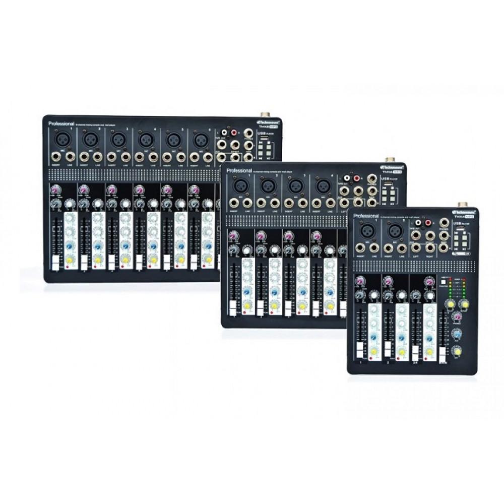Mixer 8canali Technosound con lettore usb player MP3