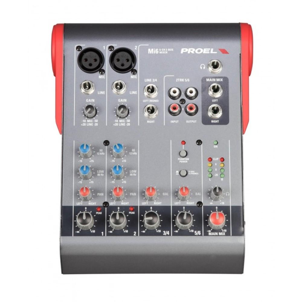 Mixer Proel Mi6 Passivo 6 Canali 2 uscite