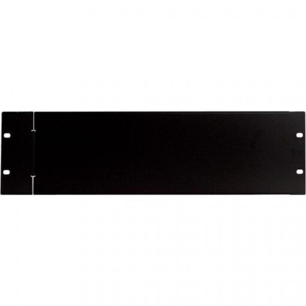 Pannello di protezione sicurezza cieco Proel da 2U per rack da 19 con cerniera di rotazione in lamiera zincata