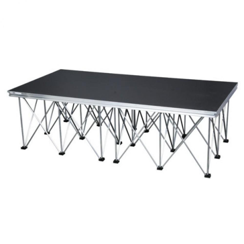 Pedana palco praticabile modulare completa di gambe 100x200x40 - 70620