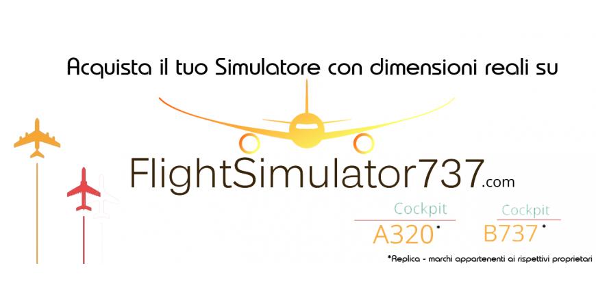 Simulatore Cockpit Replica A320 B737