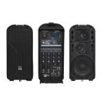 Sistema portatile completo Proel amplificato a batteria-2x75W-Freepack65lt