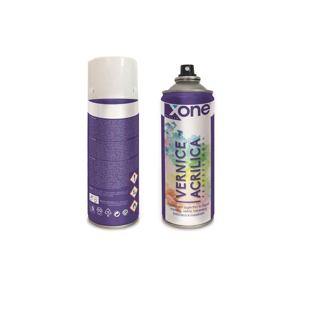 Spray acrilico bomboletta colore vernice professionale nero opaco 400ml