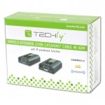 Techly Amplificatore Extender 4K UHD fino a 60m su cavo Cat.6-6A-7 EXT-E704K